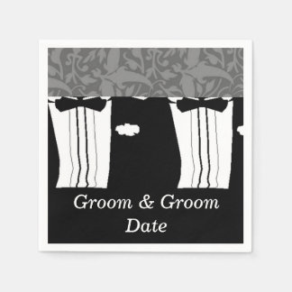 Gay Wedding Grooms Paper Napkins