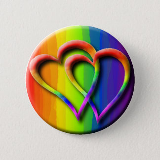 Gay Wedding Hearts Pride Parade LGBT Love 2 Inch Round Button