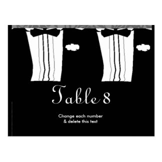 Gay Wedding Table Cards numbers Postcard