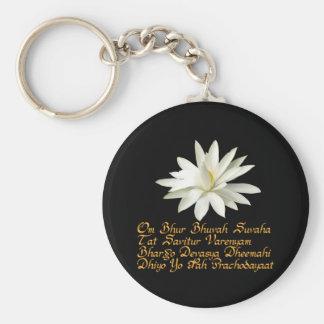 Gayatri mantra basic round button keychain