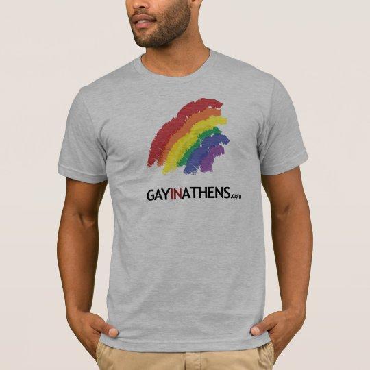 GayInAthens Rainbow - Customized T-Shirt