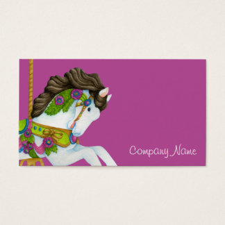 Gayle Carousel Horse Business Card