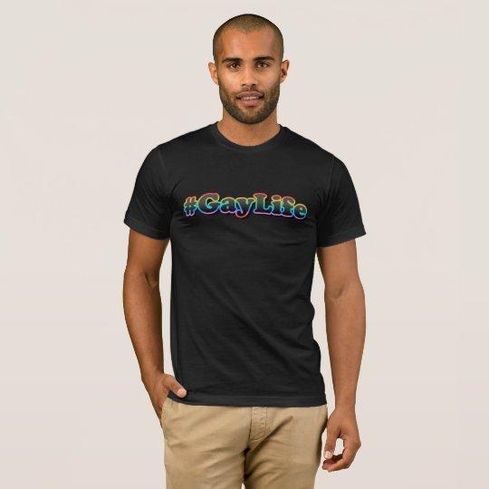 #GayLife (Dark Men's V-Neck T-Shirt) T-Shirt