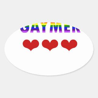 Gaymer (v1) oval sticker