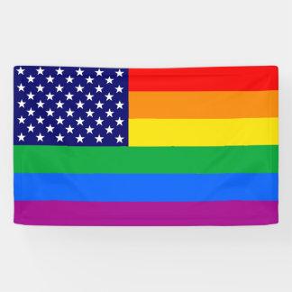 Gaymerican Pride Flag Banner
