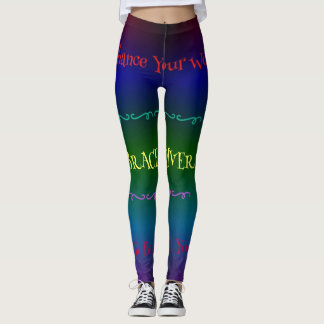 #Gaypride Modern Rainbow Embracing Diversity Leggings