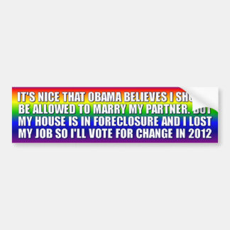 GAYS FOR ROMNEY BUMPER STICKER