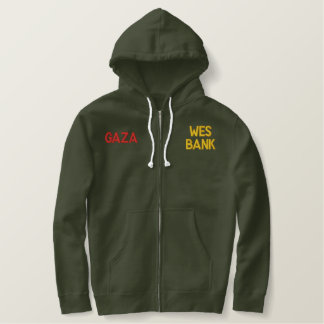 Gaza wear embroidered hoodie