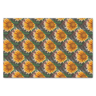 Gazania in Red, Gold and Green Tissue Paper