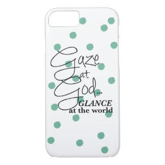 Gaze At God: Christian Gift Phone Case Polka dots