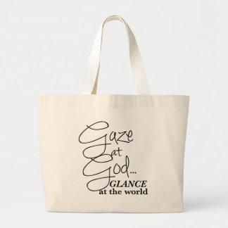 Gaze At God: Christian Gift Tote Bag Weekender Bag