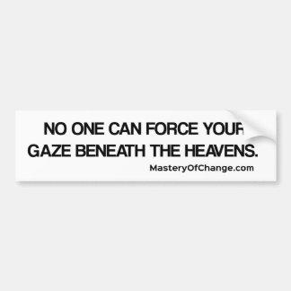 Gaze to the heavens bumper sticker