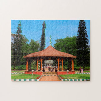 Gazebo in a  garden Bangalore India. Jigsaw Puzzle