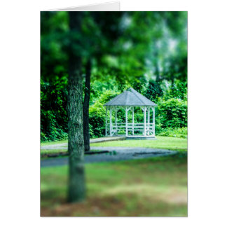 Gazebo in the Park Blank Greeting Card