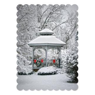 """Gazebo in the Snow 5"""" X 7"""" Invitation Card"""