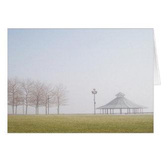 Gazebo on a Misty Winter Day Card