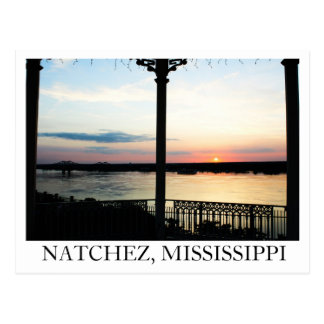 Gazebo Sunset in Natchez, Mississippi Postcard