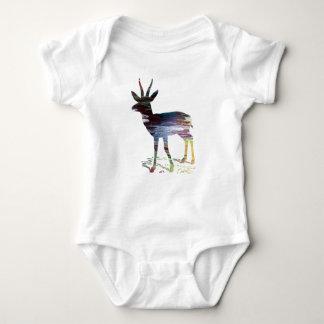 Gazelle art baby bodysuit