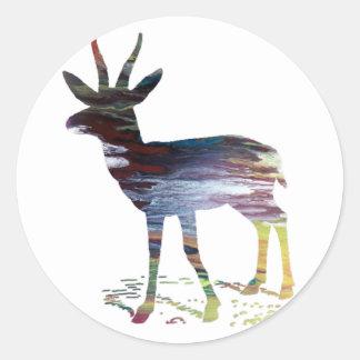 Gazelle art classic round sticker