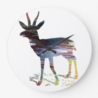Gazelle art large clock