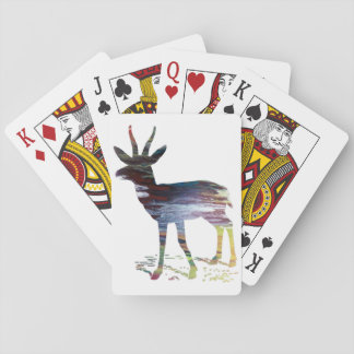 Gazelle art playing cards