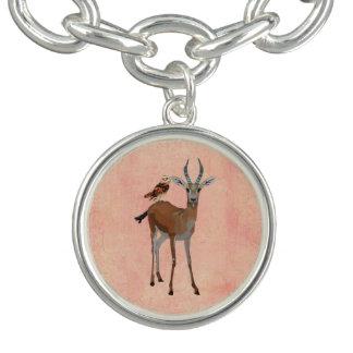 Gazelle & Owl Charm Bracelet