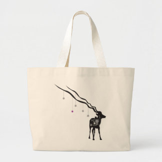 Gazelle with Stars Large Tote Bag