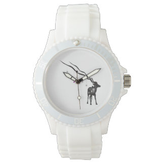 Gazelle with Stars Sporty White Watch