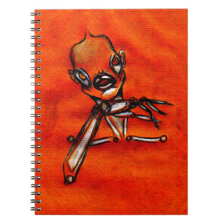 Gazing girl notebook