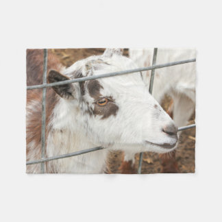 Gazing Goat Fleece Blanket