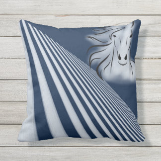 Gazing Horse Outdoor Pillow
