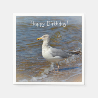 Gazing Seagull Paper Napkin