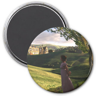 Gazing Upon Pemberley Jane Austen inspired art Magnet