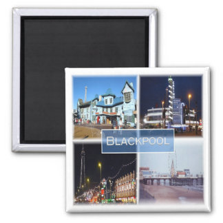 GB * England - - Blackpool Square Magnet
