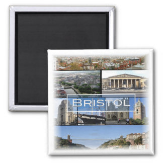 GB * England - Bristol - Mosaic Square Magnet