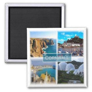 GB * England - Cornwall Square Magnet