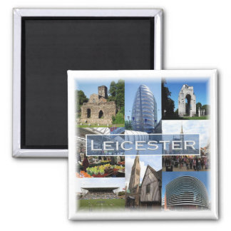 GB * England - Leicester - Mosaic Square Magnet