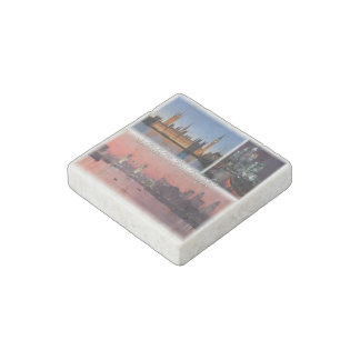GB England - London By Night Stone Magnets