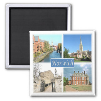 GB * England - Norwich Norfolk Square Magnet