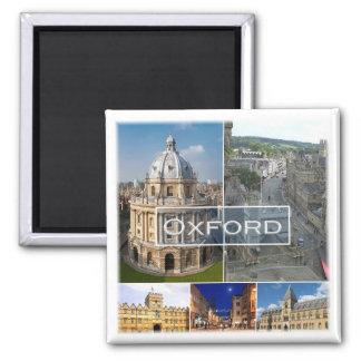 GB * England - Oxford England Square Magnet