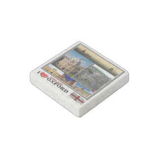 GB England - Oxford - I Love Mosaic - Stone Magnets