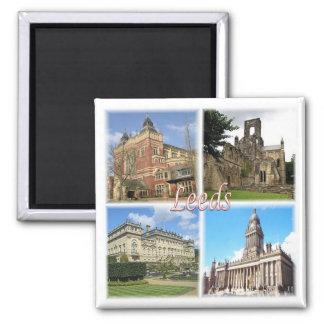 GB * England - Yorkshire - Leeds Square Magnet