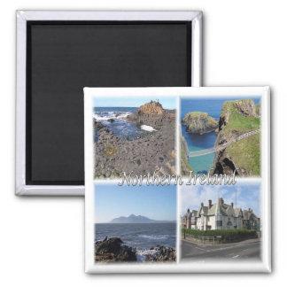 GB * Northern Ireland Square Magnet