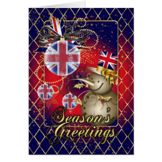 GB Patriotic Christmas Card - Season's Greetings S
