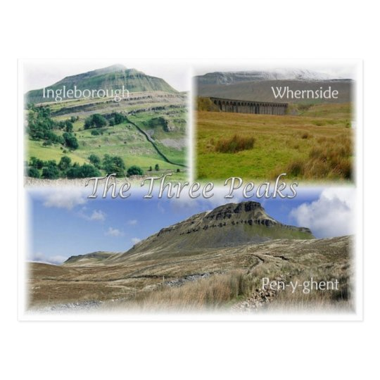 GB United Kingdom - England - The Three Peaks - Postcard