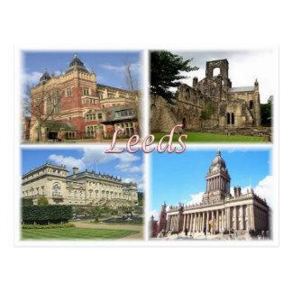 GB United Kingdom - England - Yorkshire  - Leeds - Postcard