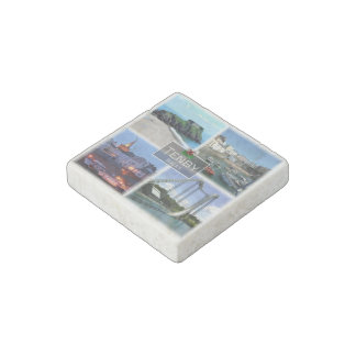 GB  Wales - Tenby - Harbor - Oakwood Theme Park - Stone Magnets