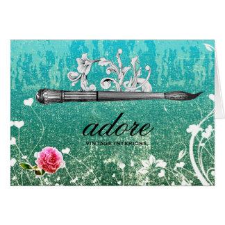 GC Adore Vintage Paintbrush Blue Card