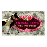 """GC   """"AnnaBelles"""" Horse Ranch   Vintage Grey Pack Of Standard Business Cards"""