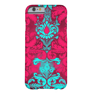 GC Aqua Red Bliss 2 Vintage Damask Barely There iPhone 6 Case